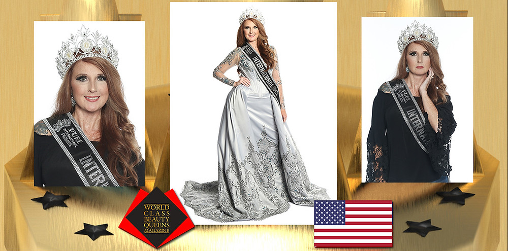 Marsha Trammell Pure International Ms 2019-2020, World Class Beauty Queens Magazine, Photo by Elizabeth Clary Photography