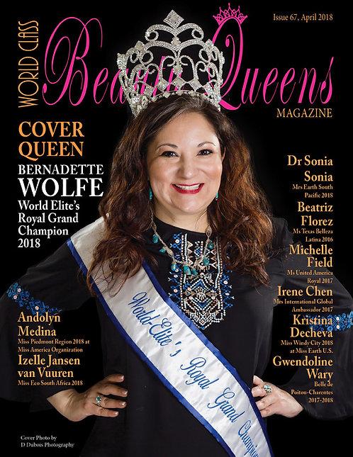 Issue 67 World Class Beauty Queens Magazine
