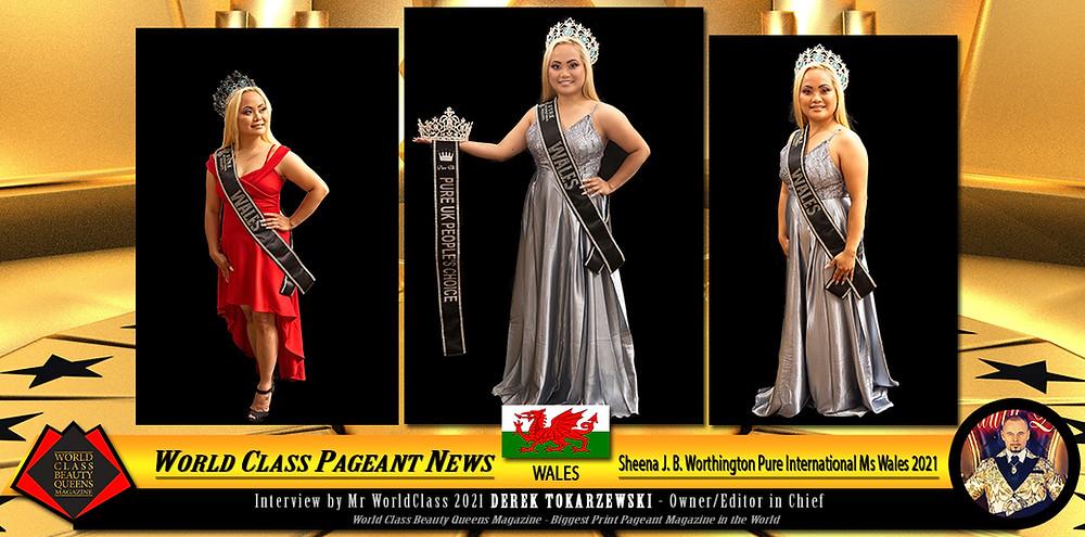 Sheena J. B. Worthington Pure International Ms Wales 2021, World Class Beauty Queens Magazine,