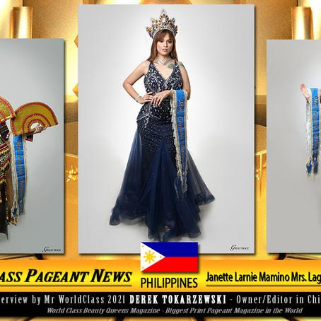 Janette Larnie Mamino Mrs. Laguna Philippines 2020