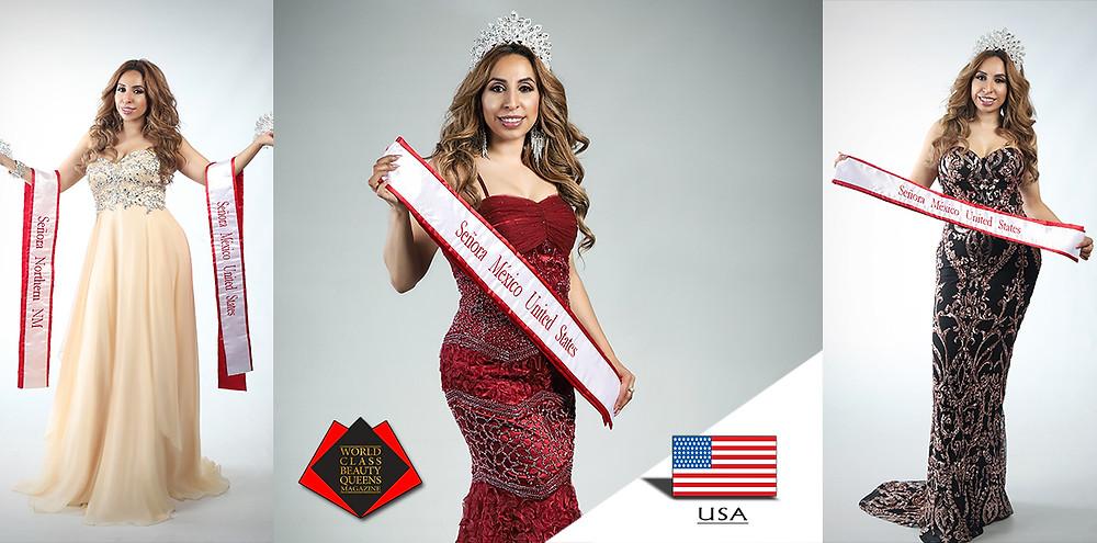 World Class Beauty Queens Magazine, Lupita Anaya Enríquez Señora México United States 2019,  Belmar Studio Photography