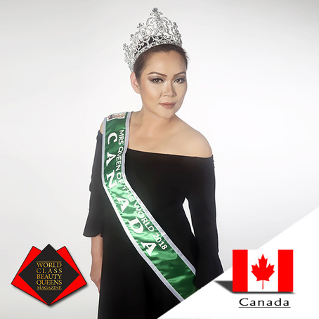 Florence Haro Mrs. Queen of the World Canada 2018