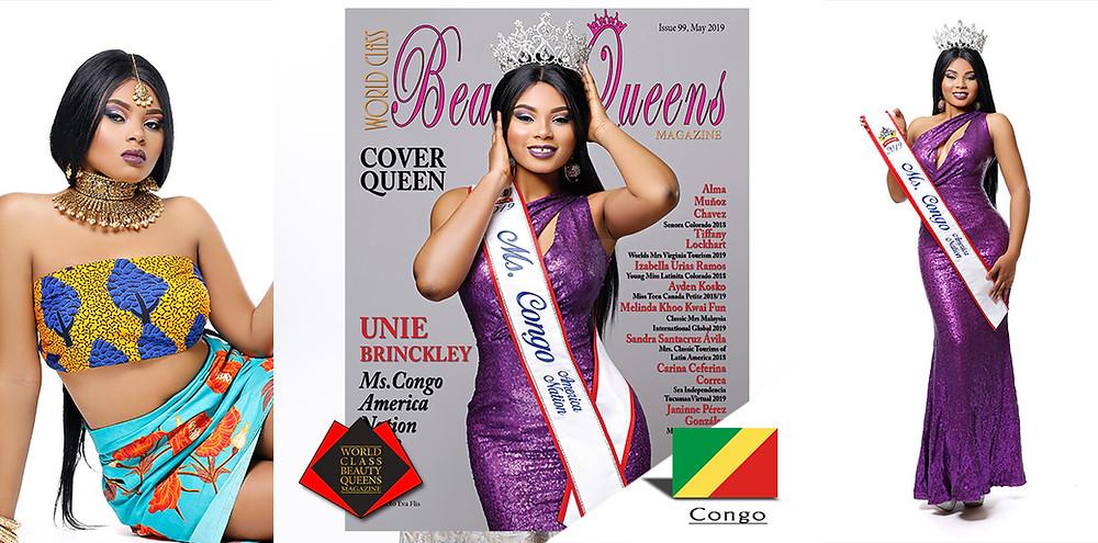 Unie Brinckley Ms. Congo America Nation 2019, World Class Beauty Queens Magazine, Photo by Eva Flis