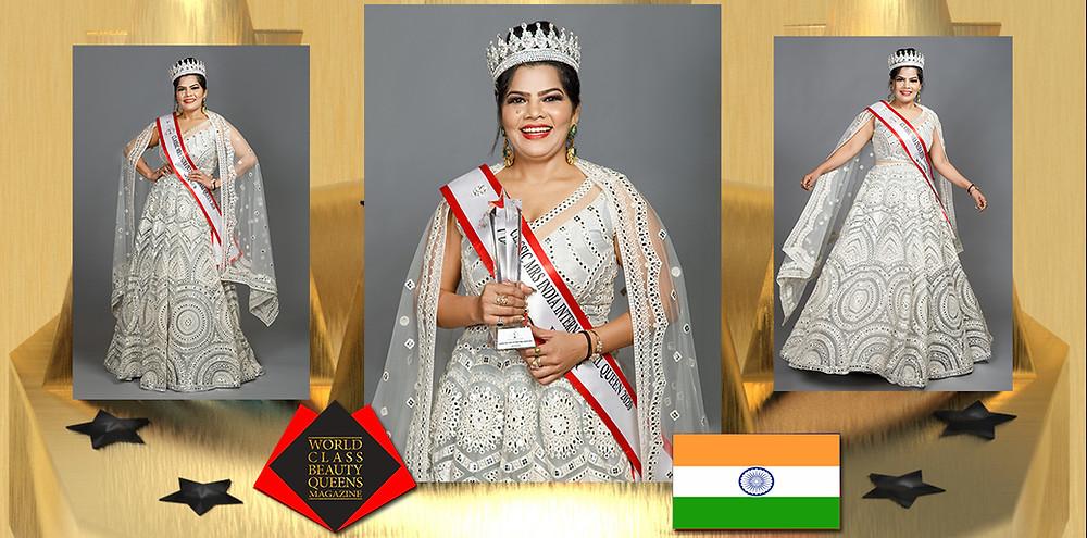 Manju Upadhyay Classic Mrs India International Queen 2020 Winner, World Class Beauty Queens Magazine,