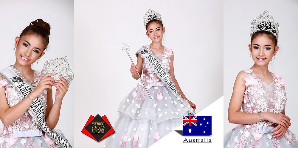 Serenity Ayla Charles Miss Junior Diamond Australia 2019, World Class Princess Magazine