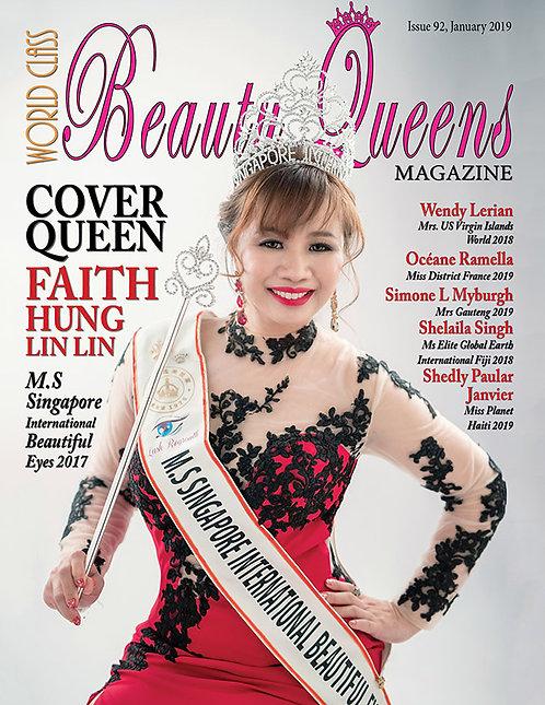 Issue 92 World Class Beauty Queens Magazine