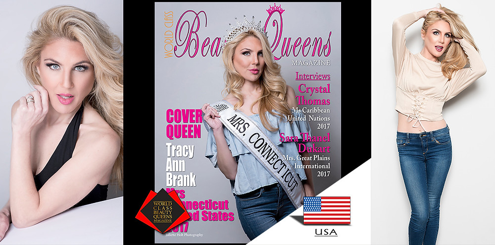 Tracy Anne Brank Mrs. Connecticut United States 2017, World Class Beauty Queens Magazine, Photo: Juliette Holt Photography