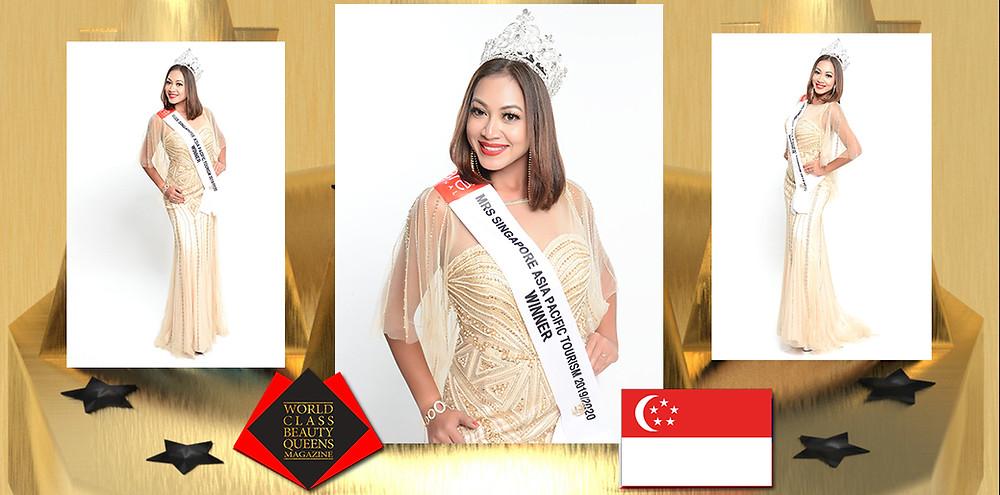 Lenny Khairani Jemaat Mrs Singapore Asia Pacific Tourism 2019, World Class Beauty Queens Magazine,