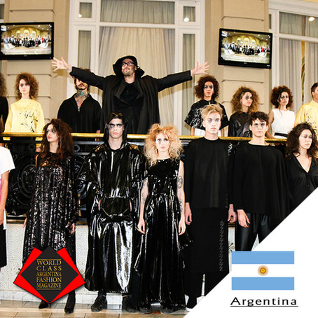 "Panni Margot presents ""IKEBANA"" collection during Argentina Fashion Week 2019."
