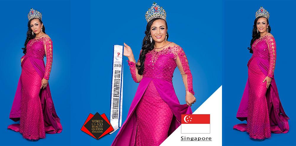 Roziah Barik Elite Singapolitan International 2019/2020, World Class Beauty Queens Magazine, Photo by Indika Danthanarayana