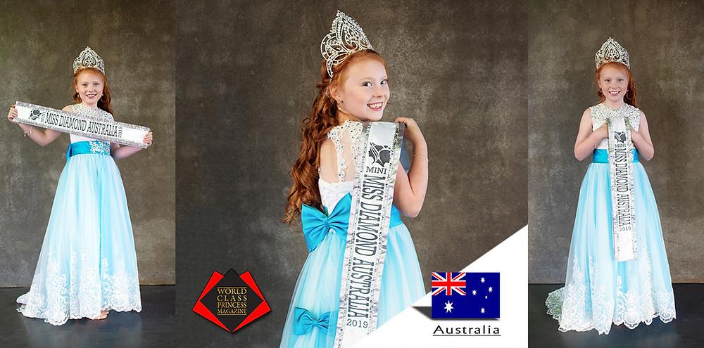 Montana Toni Laredo Miss Mini Diamond Australia 2019, World Class Princess Magazine