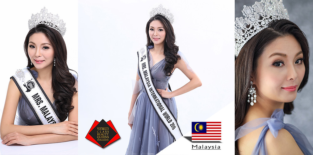 Denise Lee Li San Mrs Malaysia International World 2019, World Class Beauty Queens Magazine,