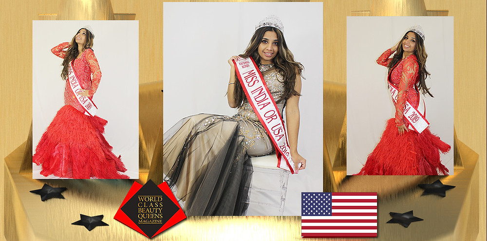 Jaskiran Kaur Uppal Miss India Oregon 2019-2020, World Class Beauty Queens Magazine,