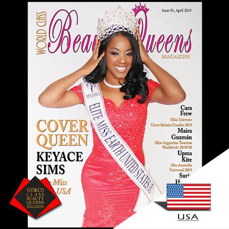 Keyace Sims Elite Miss Earth USA 2018