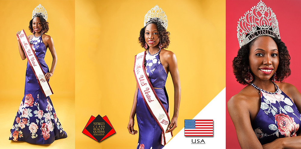 Angel Thornton-Burns Mrs. US United 2019, World Class Beauty Queens Magazine,