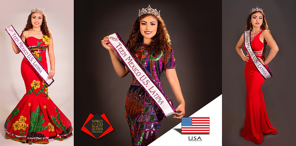 Valeria Adriana Marquez Mejia Miss Teen Mexico U.S Latina 2019-2020, Photo by Darin In-On Photography  Assistant Karen Smith