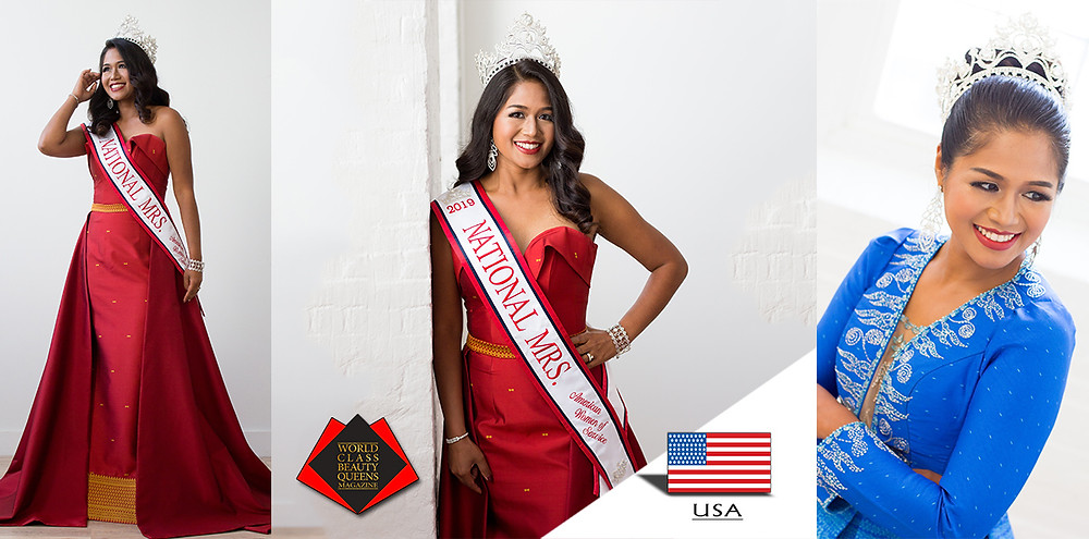 Chan Kry Khiev National Mrs. 2019, World Class Beauty Queens Magazine,