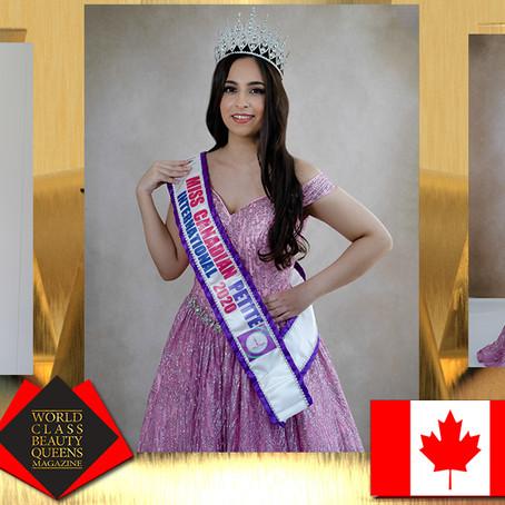 Vanya ShastriMiss Canadian Petite International 2020