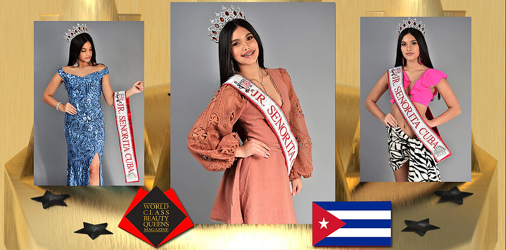 Fabiana Fernandez Jr. Señorita Cuba 2020, World Class Beauty Queens Magazine, Photo by George Anthony Wakefield