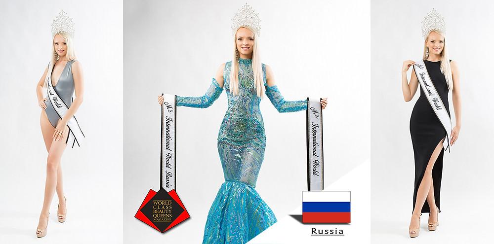 Gelsiniy Bareeva Ms International World 2019 , World Class Beauty Queens Magazine,