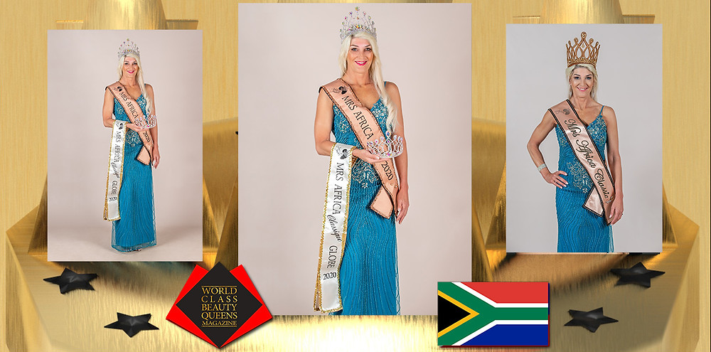 Gill Holm Mrs Africa Classic 2020, World Class Beauty Queens Magazine,