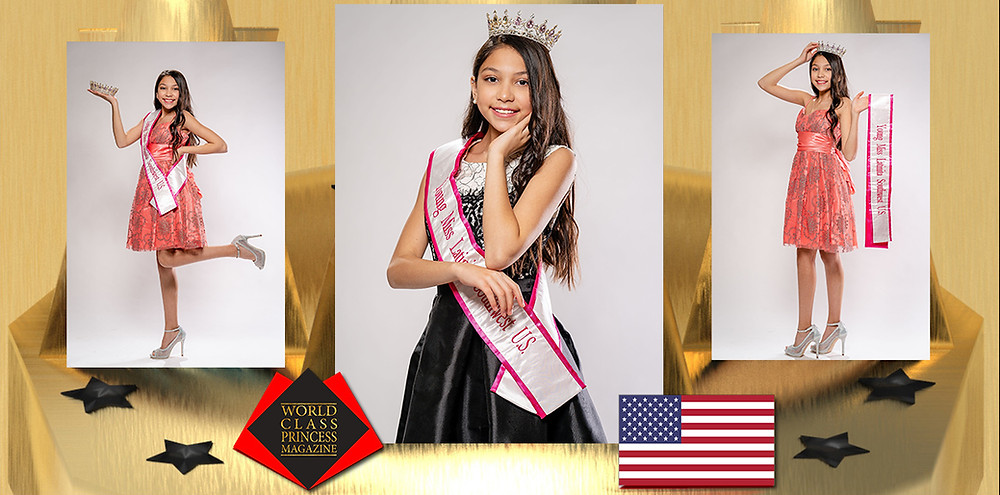 World Class Princess Magazine, Yuliana Sarai Garcia Young Miss Latinita Southwest US 2019,