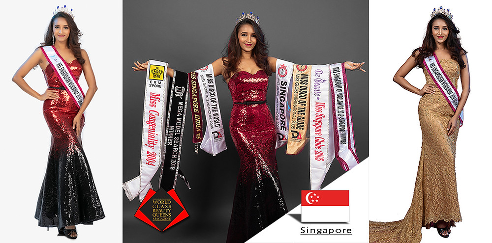 Gaiyethri Ramasamy Mrs Singapolitan Worldwide Singapore 2019, World Class Beauty Queens Magazine,