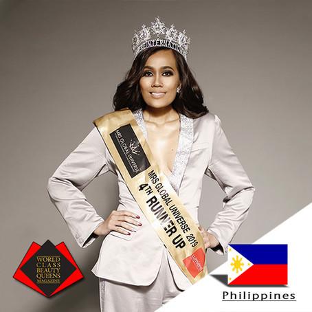 Irene Bigornia Montemayor Mrs Global Universe 2019 4th runner up