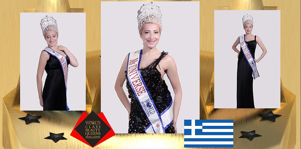 Georgia Vagena World International Ms Universe MRS 2019, World Class Beauty Queens Magazine,