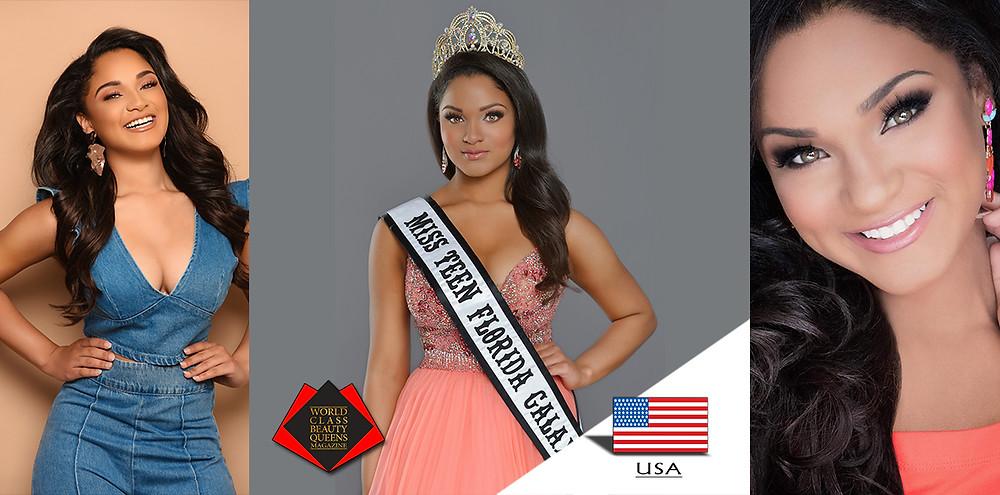 Alexa Marie Major 2019 Teen Florida Galaxy, World Class Beauty Queens Magazine