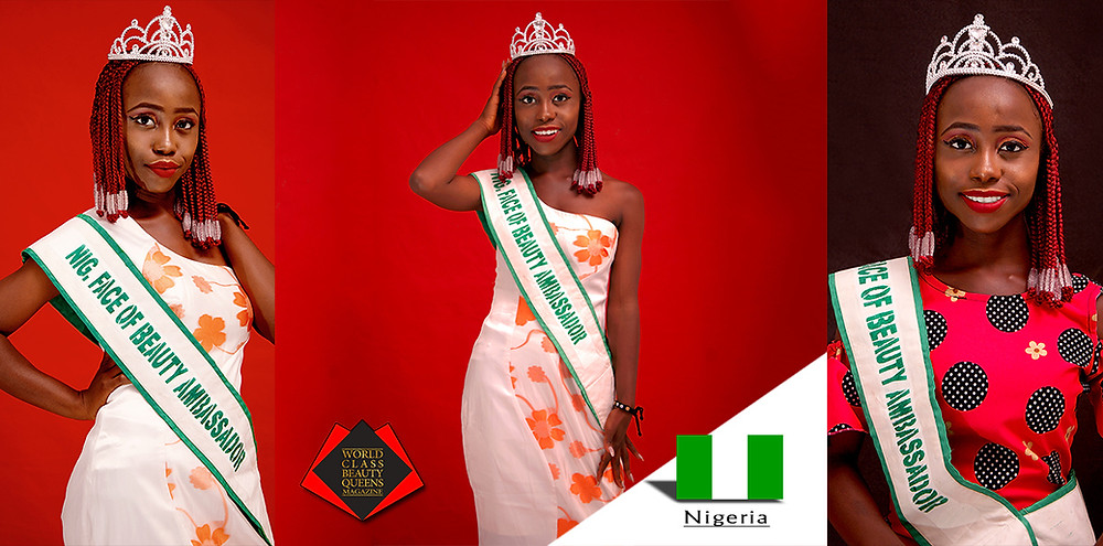 Maichibi Martha Nendelmwa Nigeria Face of Beauty Ambassador 2018/2019, World Class Beauty Queens Magazine,
