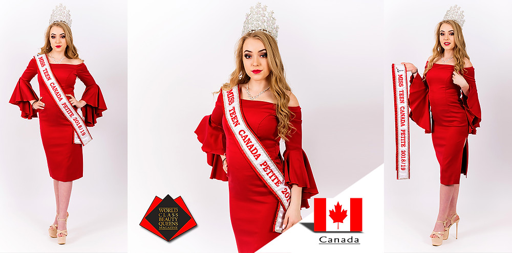 Ayden Kosko Miss Teen Canada Petite 2018/19, World Class Beauty Queens Magazine, Photo by Setters Impressions Photography