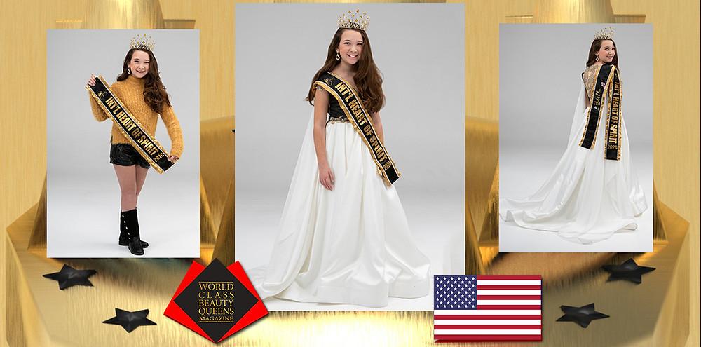 Briella Arlene Cenci International Heart of Spirit PreTeen 2020, World Class Beauty Queens Magazine, Photo by Michael A. Panzarino at M.A.P Graphics, Erin Ford Make-up & Skincare