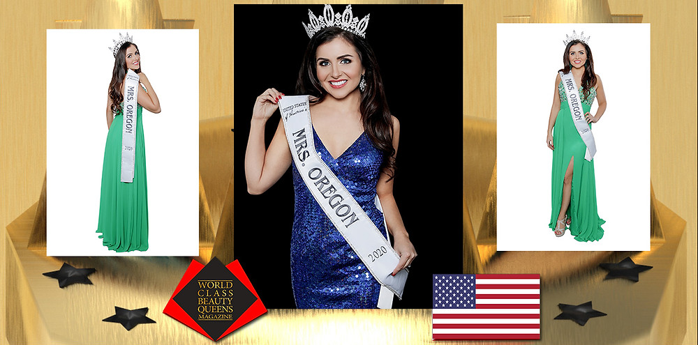 Kara Alicia Campuzano United States of America's Mrs. Oregon 2020, World Class Beauty Queens Magazine,