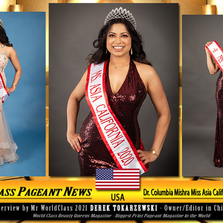Dr. Columbia Mishra Miss Asia California Global 2020-2021