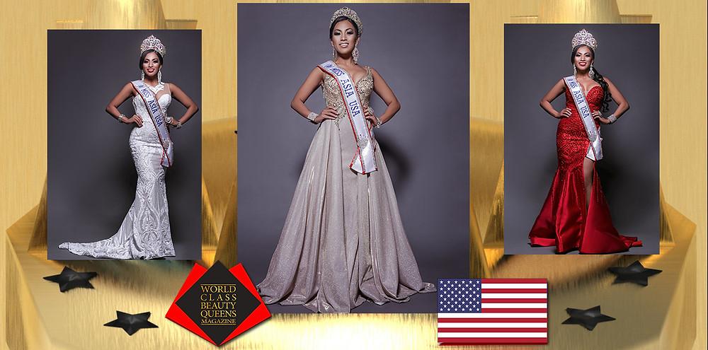 Diane Caneda Miss Asia-USA 2019-2020, World Class Beauty Queens Magazine, Make Up By: Gina Faucher IG: @ makeupbygina888  Hairstylist By:  Chabrea Martin IG: @ glam_by_gorgeous  Hairstylist: Evgeniya Karpova  IG: @jkhairtech  Studio: @michaelvincentacademy
