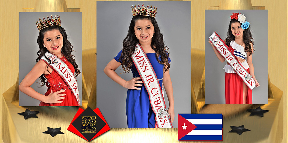 Brielle Trujillo Miss Jr. Cuba U.S. 2020, World Class Princess Magazine,