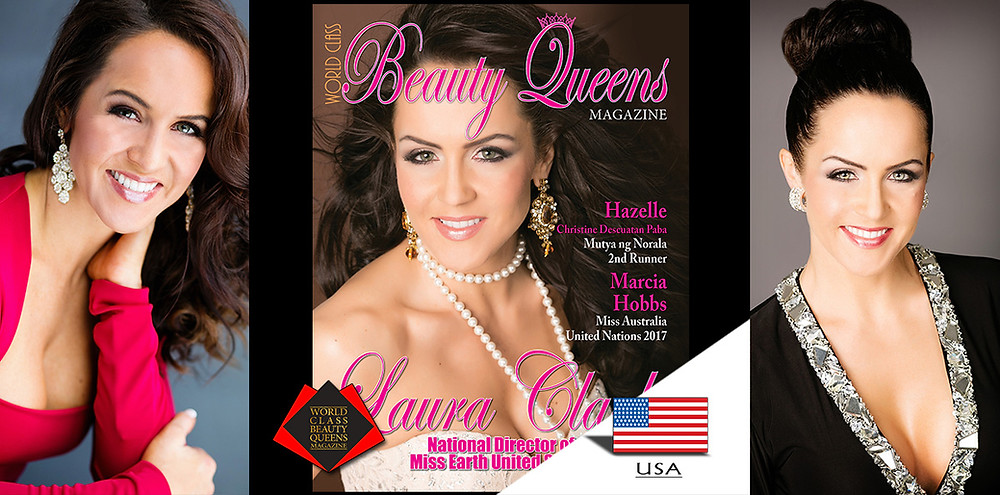 Laura Clark National Director of Miss Earth United States, World Class Beauty Queens Magazine,
