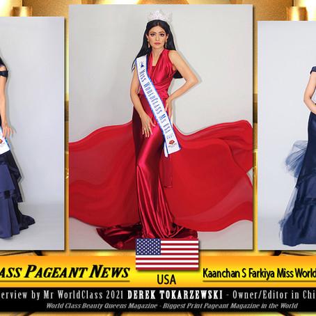 Kaanchan S Farkiya Miss WorldClass Ms. USA 2021