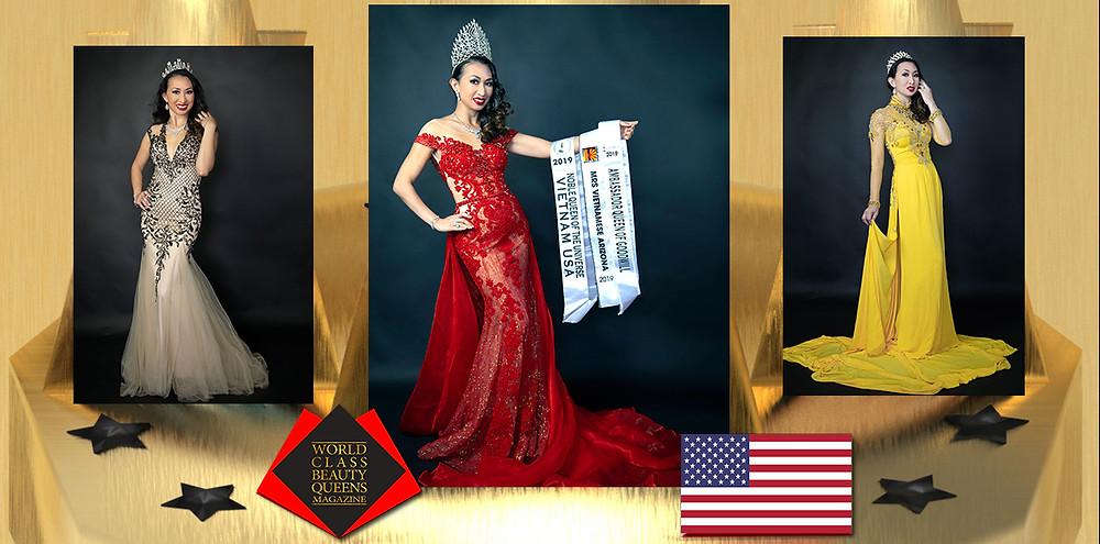 Lan Ngoc Hoang Noble Queen of the Universe-Vietnam USA 2019, World Class Beauty Queens Magazine, Photo by Tuan Nguyen