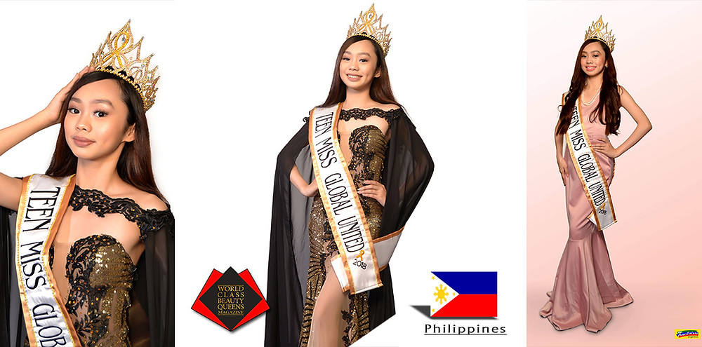 Diosem Lleyd Maglinao Budios Teen Miss Global United 2018 Grand Winner, World Class Beauty Queens Magazine