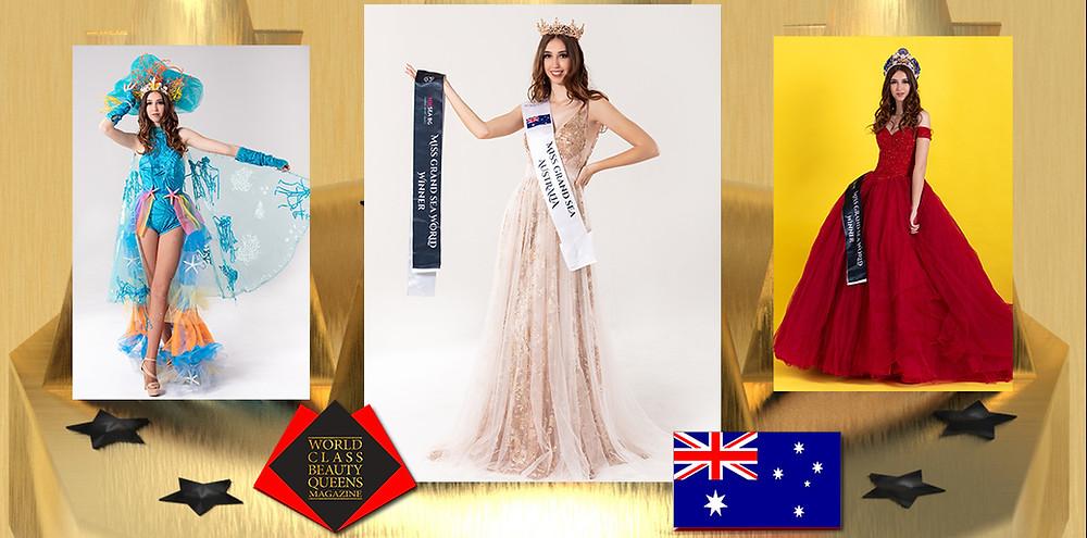 Chloe Sanders Miss Grand Sea International 2019, World Class Beauty Queens Magazine,