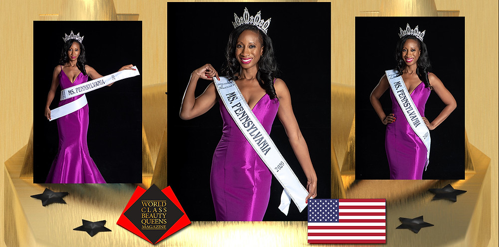 Nikki Johnson-Huston United States of America's Ms. Pennsylvania 2020, World Class Beauty Queens Magazine,