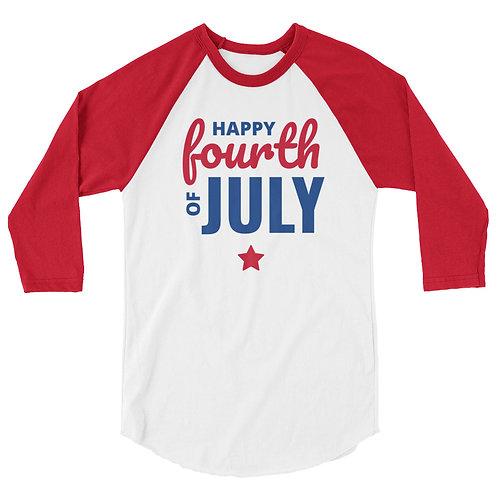 Happy 4th raglan shirt copy