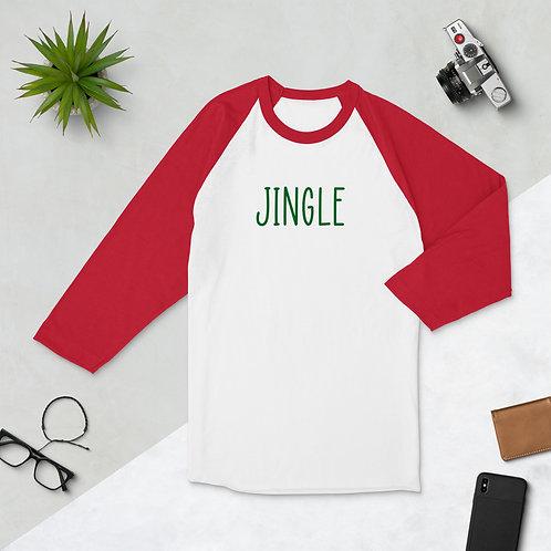 Jingle. 3/4 sleeve raglan shirt