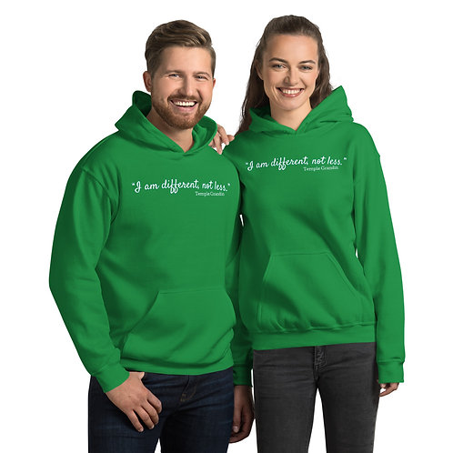 """""""I Am Different, Not Less"""" Hoodie"""
