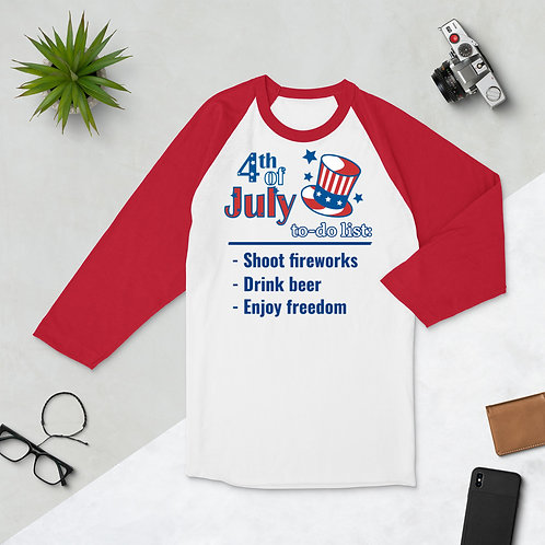 4th of July raglan shirt