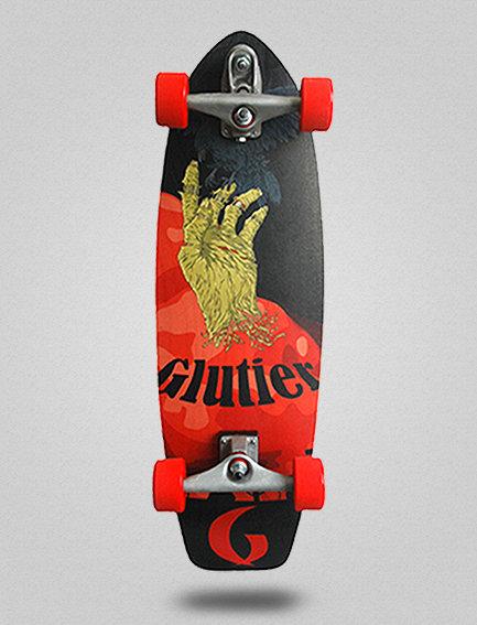 Glutier surfskate : Zombie hand 31