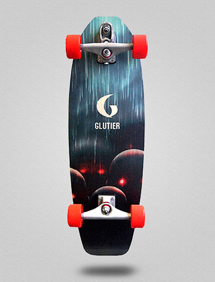 Glutier surfskate : Pixel bots 31.5