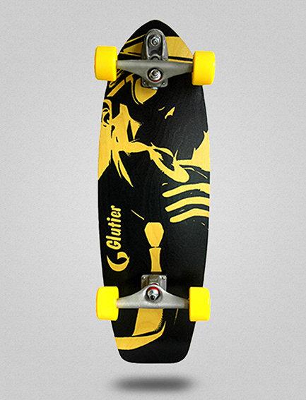 Glutier surfskate : Mafia Gangsta Yellow 31